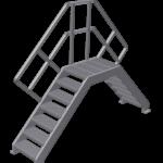 Verschillende soorten industriële trappen